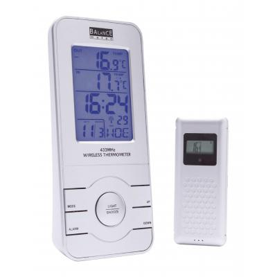 Balance weerstation: Radio-Controlled Weather Station Indoor and Outdoor Silver - Zilver