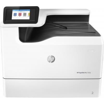 Hp inkjet printer: PageWide Pro 750dw printer - Zwart, Cyaan, Magenta, Geel