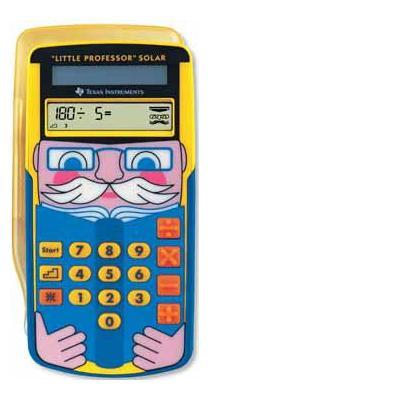 Texas instruments calculator: LITTLE PROFESSOR SOLAR