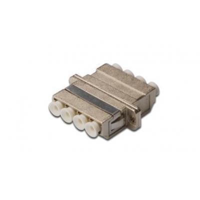 Digitus fiber optic adapter: LC / LC Quad Coupler (4-Port), Singlemode, Metal Housing - Brons