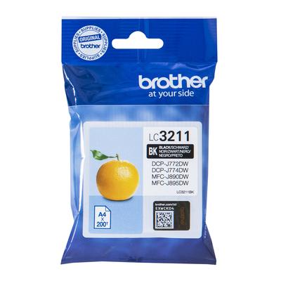 Brother Black, 200p, Standart yield Inktcartridge - Zwart