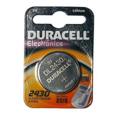 Duracell batterij: DL2430 - 3.0 V, Lithium, 9 g. - Zilver