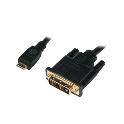 LogiLink Mini-HDMI - DVI-D M/M 2m - Zwart