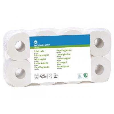 Sustainable earth by staples toiletpapier: Toiletpapier Sust.E.2lgs wit/pk8x400vel