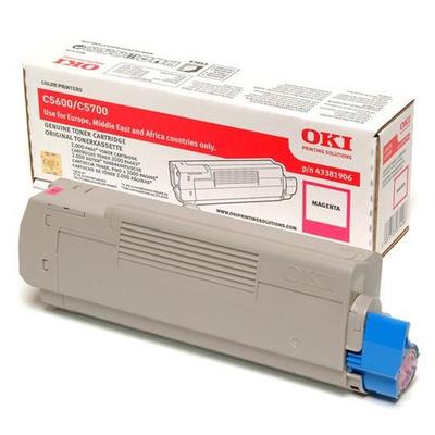 OKI cartridge: Tonercartridge voor C5600/C5700, Magenta