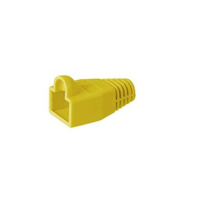 Wentronic kabelklem: Strain relief boot for RJ45 plugs - Geel