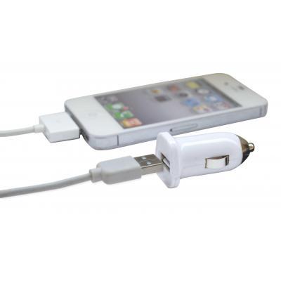 Qware batterij: Qware, Car Adapter voor Apple 30 pins