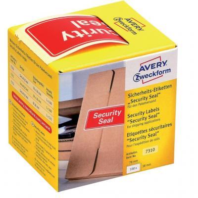 Avery 7310 Etiket - Rood