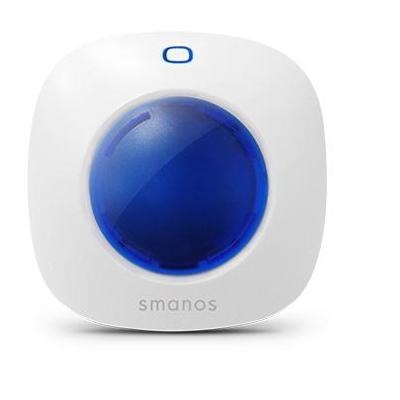 Smanos sirene: Mini Strobe Siren, 90 dB - Wit