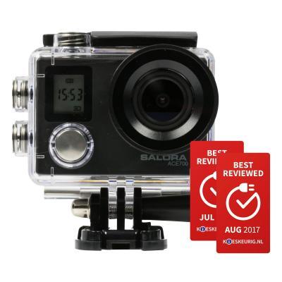 Salora actiesport camera: Een stoere 4K actioncamera met frontdisplay en WiFi - Zwart