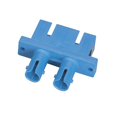 Black Box - Singlemode, Duplex, Ceramic Sleeve, Rectangular, ST-SC Fiber optic adapter - Blauw