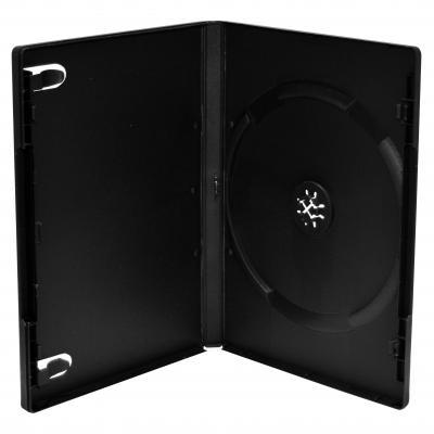 Mediarange : DVD Case for 1 disc, 14mm, black, Pack 5 - Zwart