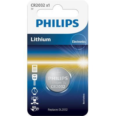 Philips batterij: Minicells Batterij CR2032/01B - Zilver