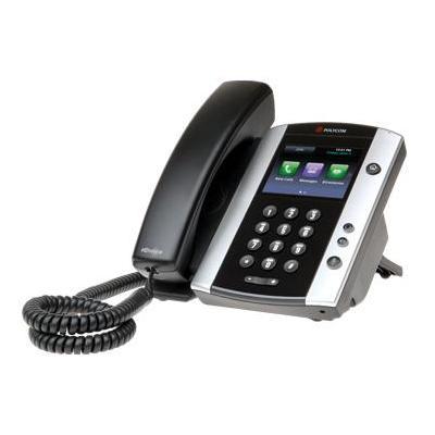 Polycom ip telefoon: VVX 500 - Zwart, Zilver