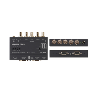 Kramer Electronics Kramer VP-100 Format converter Video converter - Zwart