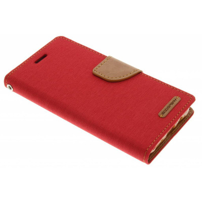 Canvas Diary Booktype Samsung Galaxy J5 - Rood Mobile phone case