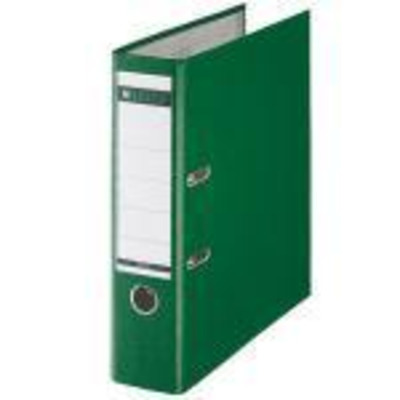 Leitz Plastic Lever Arch File A4 80mm 180° Green Map - Groen