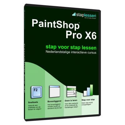 Shareart educatieve software: Staplessen, PaintShop Pro X6 (16)  NL