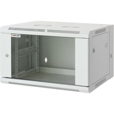 "Intellinet 19"" Double Section Wallmount Cabinet, 15U, 550mm depth, Assembled, Grey Rack - Grijs"
