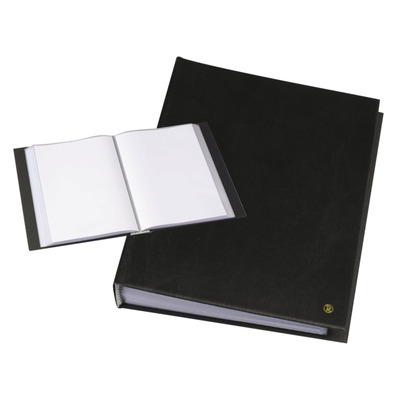 Rillstab A4, 60 pcs, generfd kunststof - Zwart