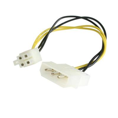 StarTech.com 15cm LP4 naar P4 voedingskabel adapter - Zwart, Wit, Geel