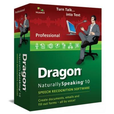 Nuance stemherkenningssofware: Dragon NaturallySpeaking Dragon NaturallySpeaking 10 Professional