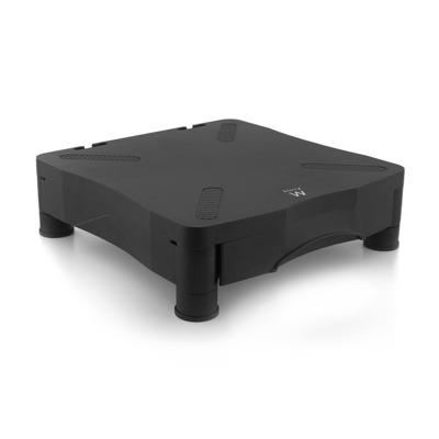 Ewent Monitor Standaard met handige opberglade Monitorarm - Zwart
