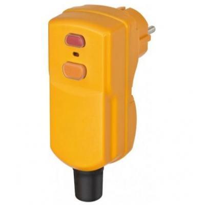 Brennenstuhl circuit breker: Circuit Breaker Plug BDI-S 2 30 IP55 - Geel
