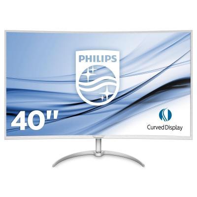 Philips monitor: Brilliance Groot en gedetailleerd beeld - Zilver, Wit