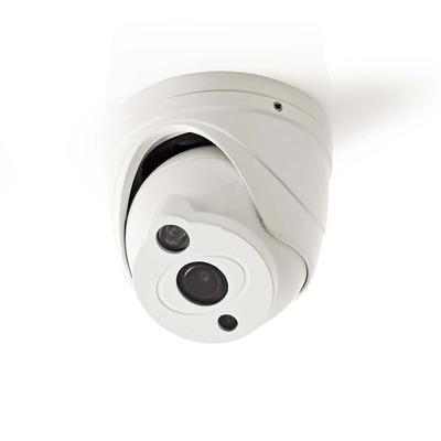 Nedis CCTV-beveiligingscamera, Dome, Full HD, Voor gebruik met analoge HD-DVR Beveiligingscamera - Wit