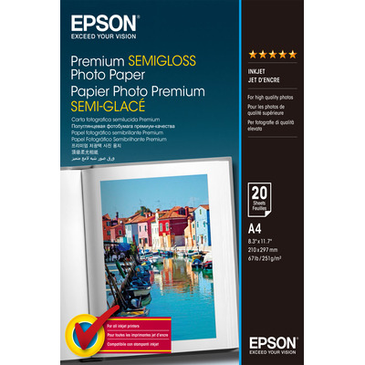 Epson Premium, DIN A4, 251g/m² Fotopapier - Wit