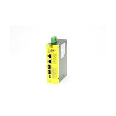 Kti networks media converter: KGC-460-HP - Metallic, Geel