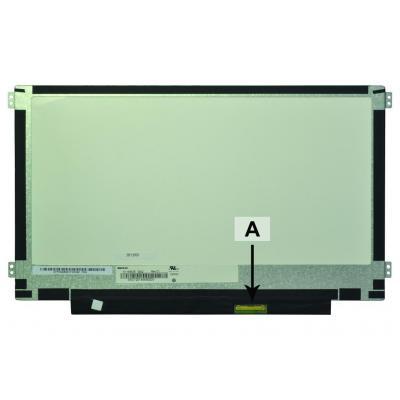 """2-power notebook reserve-onderdeel: 29.464 cm (11.6 """") 1366x768 HD+ LED Matte eDP - Zwart, Groen"""