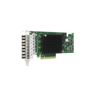 Broadcom PCIe 3.0 x8 4 Ports, 800Mb/s Netwerkkaart - Zwart, Groen, Grijs