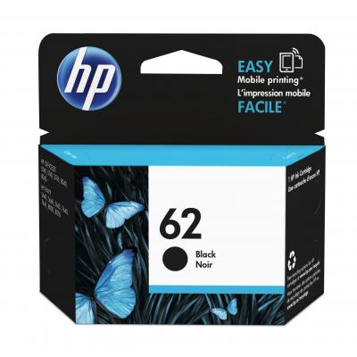Hp inktcartridge: 62 zwarte inkt cartridge