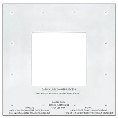 Extron Cable Cubby 500 Routing Template Montagekit - Grijs