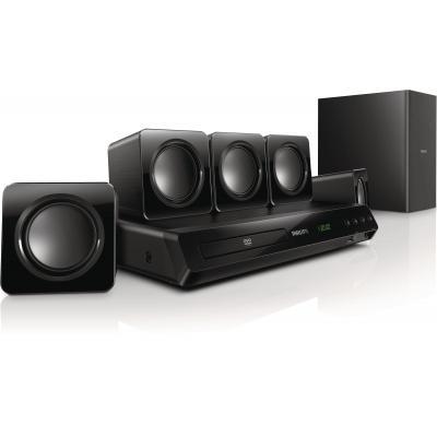 Philips home cinema system: 5.1 Home cinema met DVD-weergave - Zwart