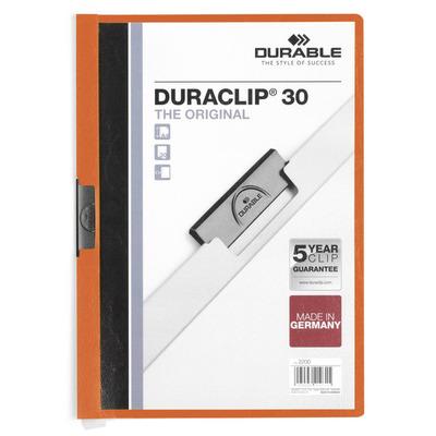 Durable DURACLIP 30 A4 Stofklepmap - Oranje, Wit