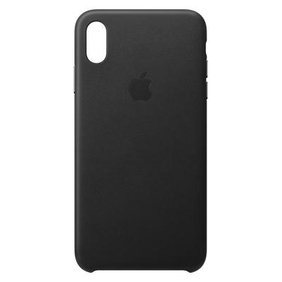 Apple mobile phone case: Leren hoesje voor iPhone XS Max - Zwart