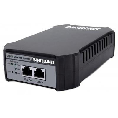 Intellinet PoE Injector 10/100/1000 Mbit/s 95W (Euro 2-pin plug) PoE adapter - Zwart,Grijs