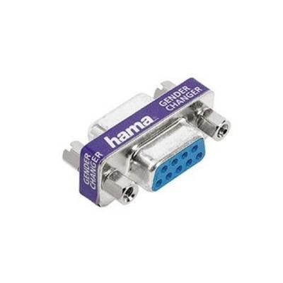 Hama Adapter/Gender Changer, 9-pin D Female Jack - 9-pin D Female Jack Kabel adapter