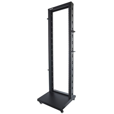 "Intellinet 19"" 2-Post Open Frame, 42U, Max 300kg, Flatpack, Black Rack - Zwart"