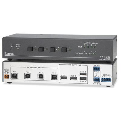 Extron SW4 USB Hub - Zwart
