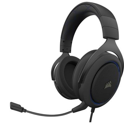Corsair HS50 PRO STEREO Headset - Zwart, Blauw