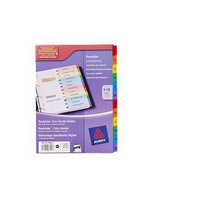 Avery schutkaart: ReadyIndex Dividers - Multi kleuren