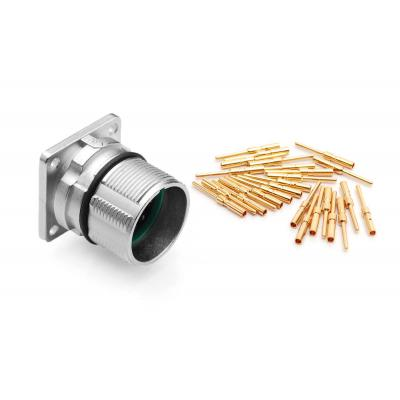 Amphenol elektrische standaardconnector: MA1LAE1200 12 Position Receptacle Kit, Straight, E Type, Pin Contacts - Zilver