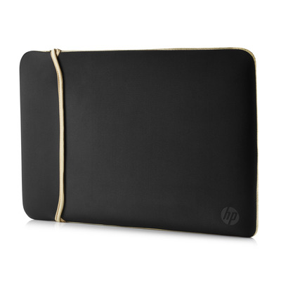 Hp laptoptas: Reversible Neoprene - Zwart, Goud