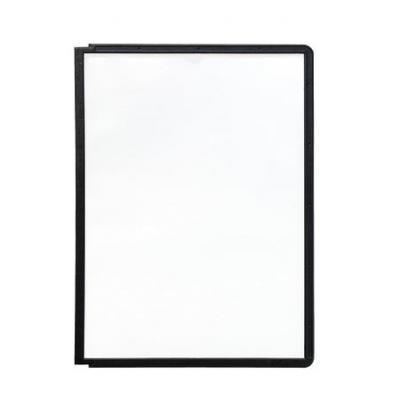 Durable : SHERPA Zichtpanelen met profiellijst voor DIN A4 formaat - Zwart