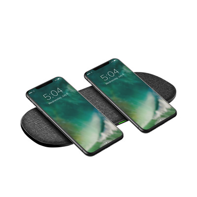 Xqisit Premium Multi Coil Wireless Charger, Grey Oplader - Grijs