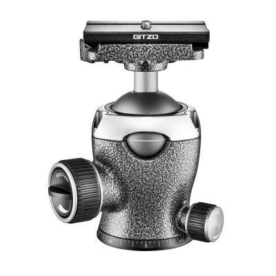 Gitzo statiefkop: 1/4'' screw, 50mm/60mm, 18kg max, 770g - Zwart, Metallic